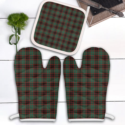 Image of Buchan Ancient Clan Tartan Scotland Oven Mitt And Pot-Holder (Set Of Two)
