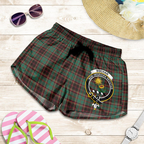 Image of Buchan Ancient crest Tartan Shorts For Women