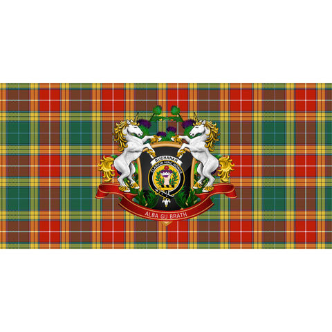 Buchanan Old Sett Crest Tartan Tablecloth Unicorn Thistle A30