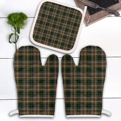 Image of Buchanan Hunting Clan Tartan Scotland Oven Mitt And Pot-Holder (Set Of Two)