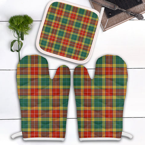 Buchanan Old Sett Clan Tartan Scotland Oven Mitt And Pot-Holder (Set Of Two)