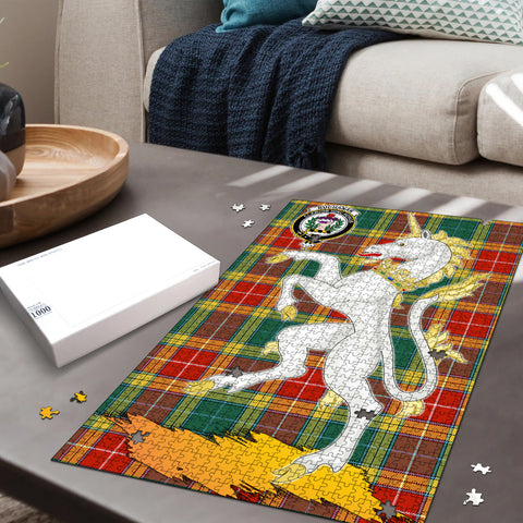 Buchanan Old Sett Clan Crest Tartan Unicorn Scotland Jigsaw Puzzle