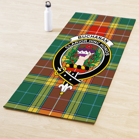 Buchanan Old Sett Clan Crest Tartan Yoga mats