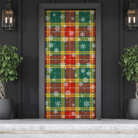 Buchanan Old Sett Christmas Tartan Door Sock Cover