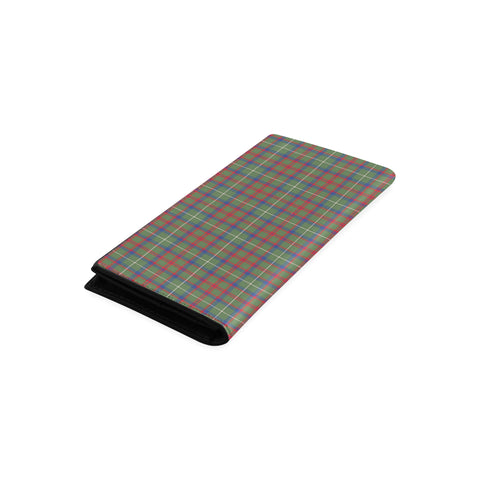 Shaw Green Modern Tartan Wallet Women's Leather Thistle A91