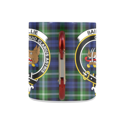 Image of Baillie Modern  Tartan Mug Classic Insulated - Clan Badge K7