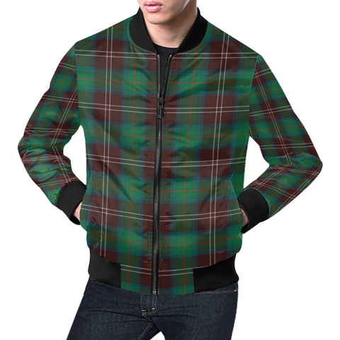 Chisholm Hunting Ancient Tartan Bomber Jacket | Scottish Jacket | Scotland Clothing
