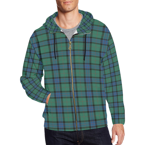 Sinclair Hunting Ancient Tartan Zipped Hoodie | Special Custom Products