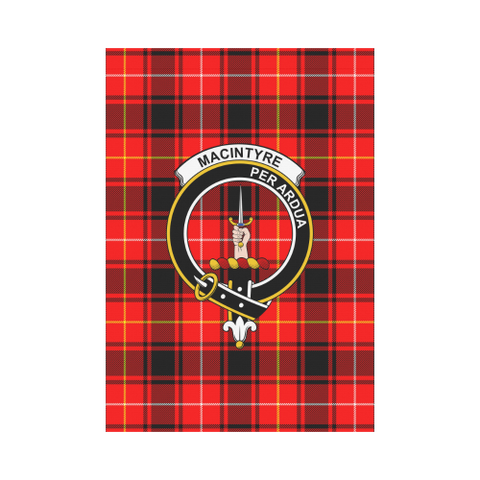Macintyre Modern Tartan Flag Clan Badge K7