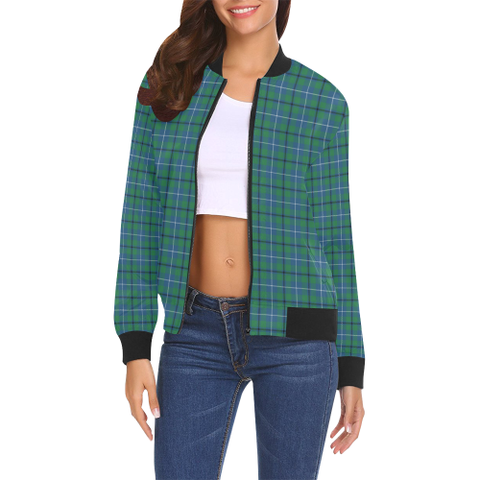 Image of Douglas Ancient Tartan Bomber Jacket | Scottish Jacket | Scotland Clothing