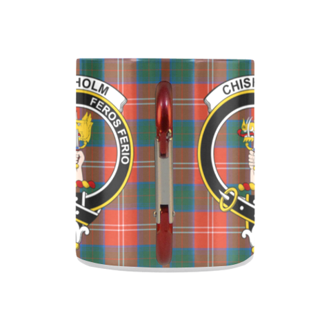 Image of Chisholm Ancient  Tartan Mug Classic Insulated - Clan Badge K7