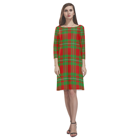 Macgregor Modern Tartan Dress - Rhea Loose Round Neck Dress TH8