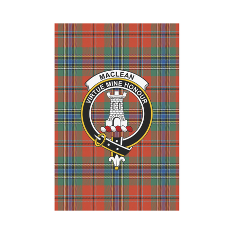 Image of Maclean Of Duart Ancient Tartan Flag Clan Badge | Scottishclans.co