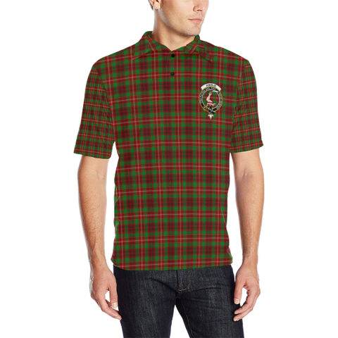 Ainslie Tartan Clan Badge Polo Shirt