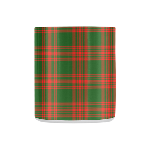 Image of Menzies Green Modern Tartan Mug Classic Insulated - Clan Badge K7