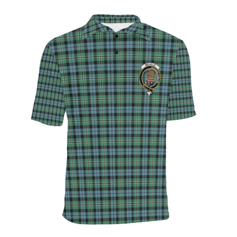 Melville Tartan Clan Badge Polo Shirt HJ4