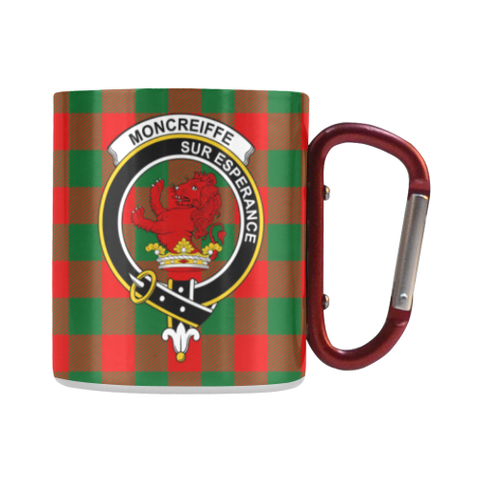 Moncrieffe Tartan Mug Classic Insulated - Clan Badge | scottishclans.co