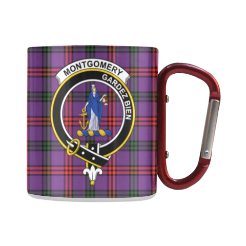 Montgomery Modern Tartan Mug Classic Insulated - Clan Badge | scottishclans.co