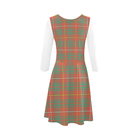 Bruce Ancient Tartan 3/4 Sleeve Sundress | Exclusive Over 500 Clans