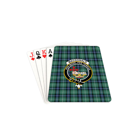 MacDonald of the Isles Hunting Ancient Tartan Clan Badge Playing Card TH8