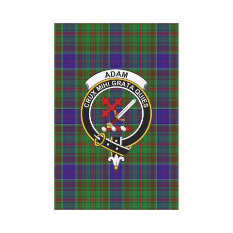 Adam Tartan Flag Clan Badge | Scottishclans.co
