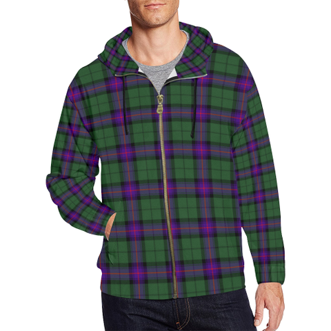 Armstrong Modern Tartan Zipped Hoodie | Special Custom Products