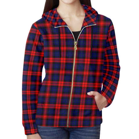 Image of MacLachlan Modern Tartan Zipped Hoodie | Special Custom Products