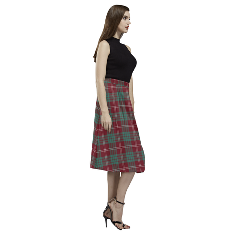 Image of Crawford Modern Tartan Aoede Crepe Skirt | Exclusive Over 500 Tartan