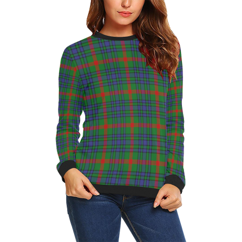Image of Aiton Tartan Crewneck Sweatshirt TH8