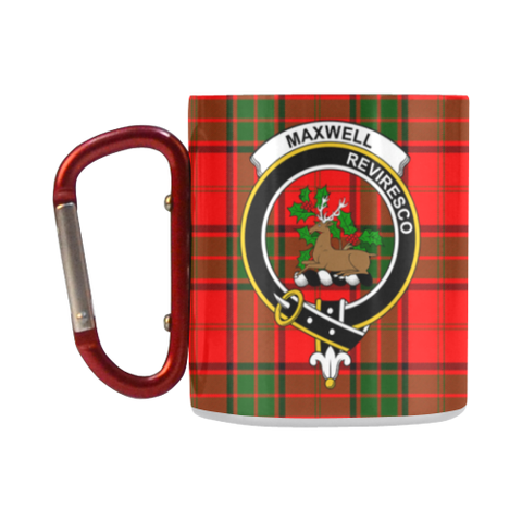 Maxwell Modern Tartan Mug Classic Insulated - Clan Badge K7