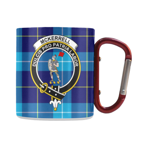 Mckerrell Tartan Mug Classic Insulated - Clan Badge | scottishclans.co