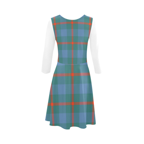 Agnew Ancient Tartan 3/4 Sleeve Sundress | Exclusive Over 500 Clans