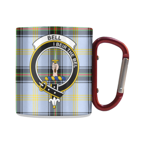 Bell Of The Borders  Tartan Mug Classic Insulated - Clan Badge | scottishclans.co