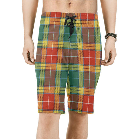 Image of Buchanan Old Sett Tartan Board Shorts | scottishclans.co