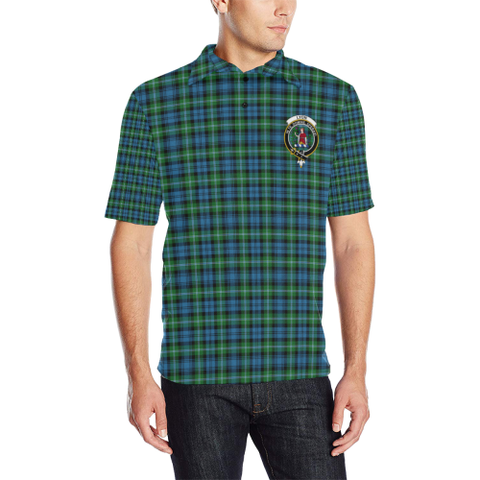 Lyon Clan Tartan Clan Badge Polo Shirt