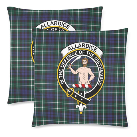 Allardice Tartan Crest Pillow Cover HJ4