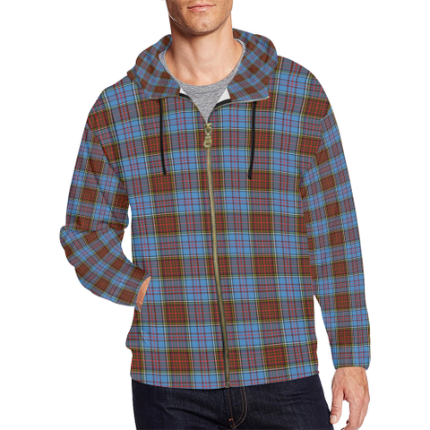 Anderson Modern Tartan Zipped Hoodie | Special Custom Products