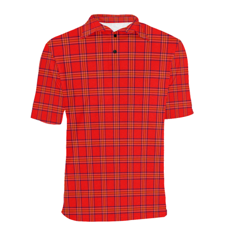 Image of Burnett Modern Tartan Polo Shirt HJ4
