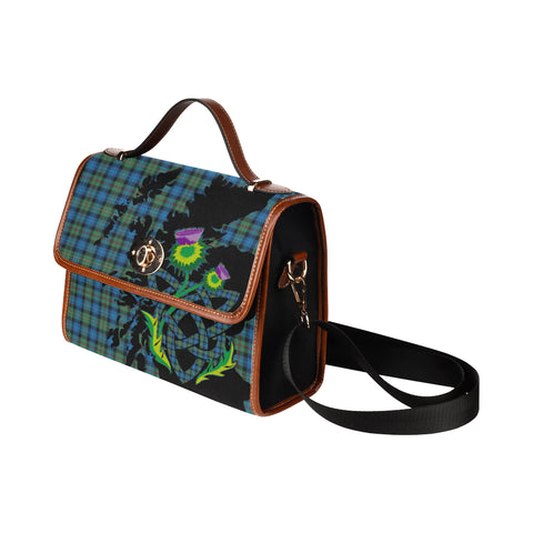Image of Smith Ancient Tartan Map & Thistle Waterproof Canvas Handbag| Hot Sale