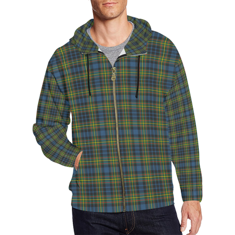 MacLellan Ancient Tartan Zipped Hoodie | Special Custom Products