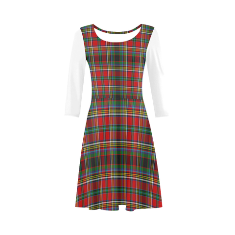 Anderson of Arbrake Tartan 3/4 Sleeve Sundress | Exclusive Over 500 Clans