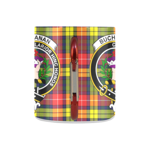 Image of Buchanan Modern  Tartan Mug Classic Insulated - Clan Badge K7