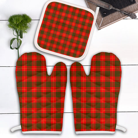 Image of Cameron Modern Clan Tartan Scotland Oven Mitt And Pot-Holder (Set Of Two)