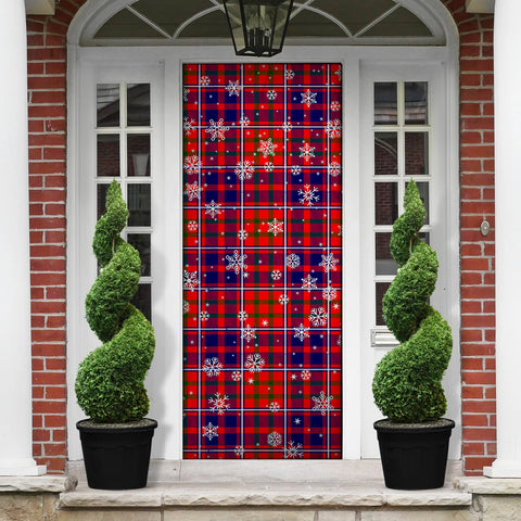 Cameron of Lochiel Modern Christmas Tartan Door Sock Cover