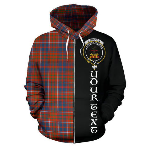 Image of (Custom your text) Cameron of Lochiel Ancient Tartan Hoodie Half Of Me TH8