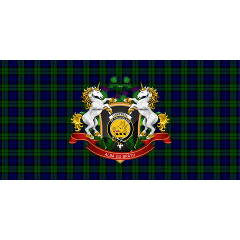 Image of Campbell Modern Crest Tartan Tablecloth Unicorn Thistle A30