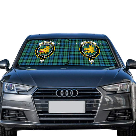 Campbell Ancient 01 Clan Crest Tartan Scotland Car Sun Shade 2pcs