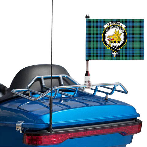Campbell Ancient 01 Clan Crest Tartan Motorcycle Flag