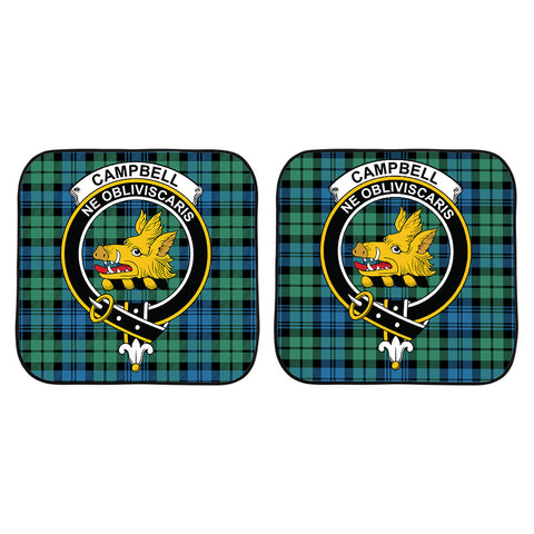 Campbell Ancient 01 Clan Crest Tartan Scotland Car Sun Shade 2pcs K7