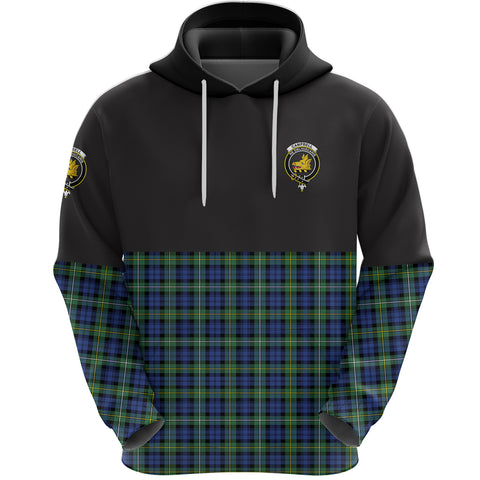 Campbell Argyll Ancient Clan Hoodie Half Of Tartan